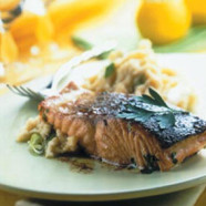 Marinated Salmon Fillet with Mash